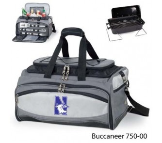 Buy Northwestern Wildcats Tote with Cooler, 3-Piece BBQ Set and Grill now!
