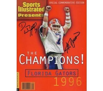Buy 1996 Florida Gators Championship QB Danny Wuerffel and Coach Steve Spurrier Dual... now!