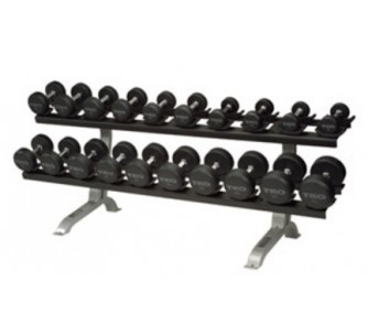 Buy Commercial Dumbbell Rack with Saddles (Silver Metallic) from TKO Sports now!