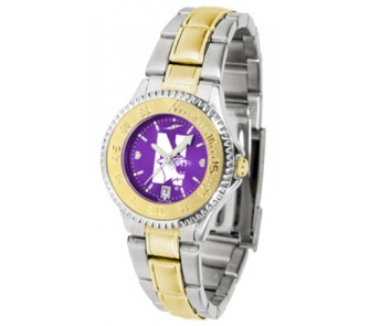 Buy Northwestern Wildcats Competitor AnoChrome Ladies Watch with Two-Tone Band now!