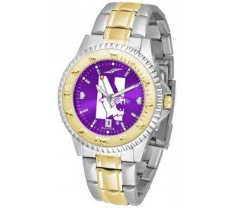 Buy Northwestern Wildcats Competitor AnoChrome Two Tone Watch now!