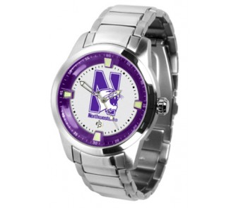 Buy Northwestern Wildcats Titan Steel Watch now!