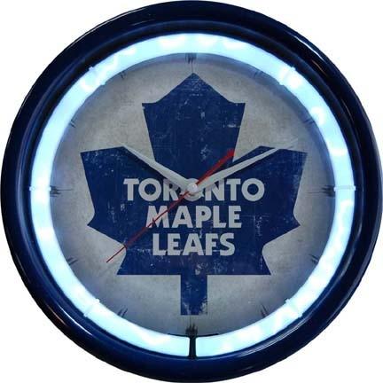 Toronto Maple Leafs Plasma Neon Clock lineSports #1: asg