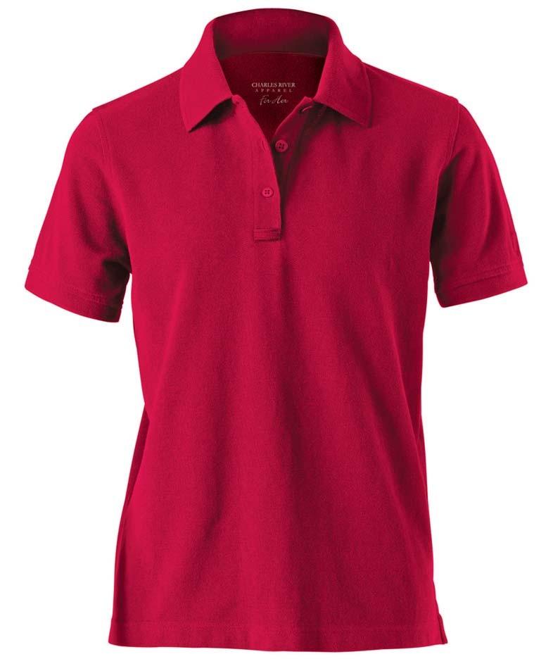 Women 39 s allegiance work polo shirt from charles river for Work polo shirts for women