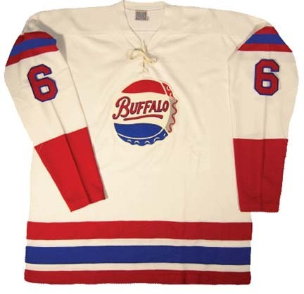 46d8978c3 Quick Overview. 1960-1961 Buffalo Bison Authentic Hockey Jersey from Ebbets  Field Flannels