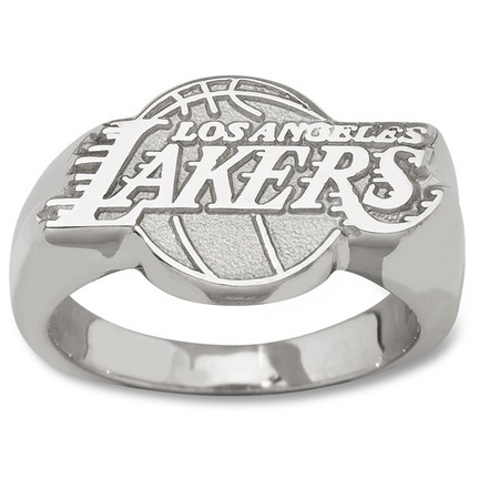 Los angeles lakers 5 8 logo men 39 s ring size 10 for Media jewelry los angeles
