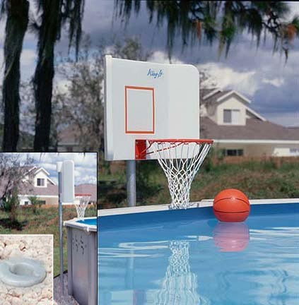 Wing it water basketball hoop game for above ground - Basketball goal for swimming pool ...