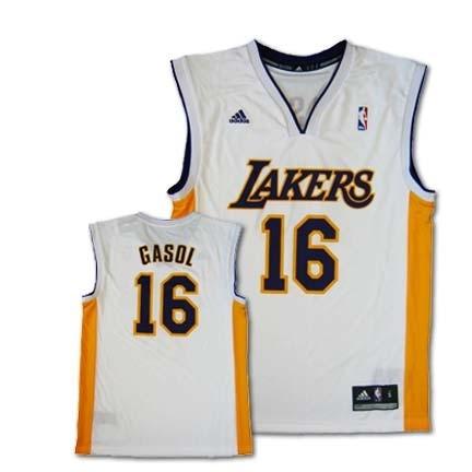 9f50eccbc Pau Gasol Los Angeles Lakers  16 Revolution 30 Replica Adidas NBA  Basketball Jersey (White). CLICK IMAGE TO ZOOM