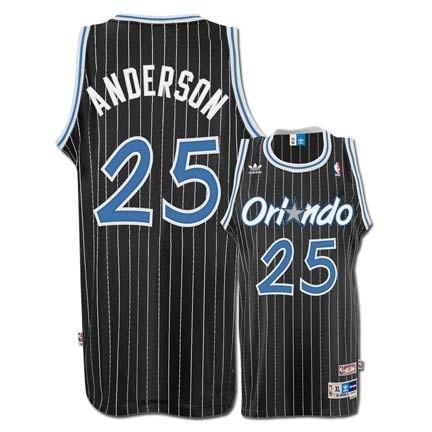 Nick Anderson Orlando Magic  25 Retro Swingman Adidas NBA Basketball Jersey  (Black) d37542796