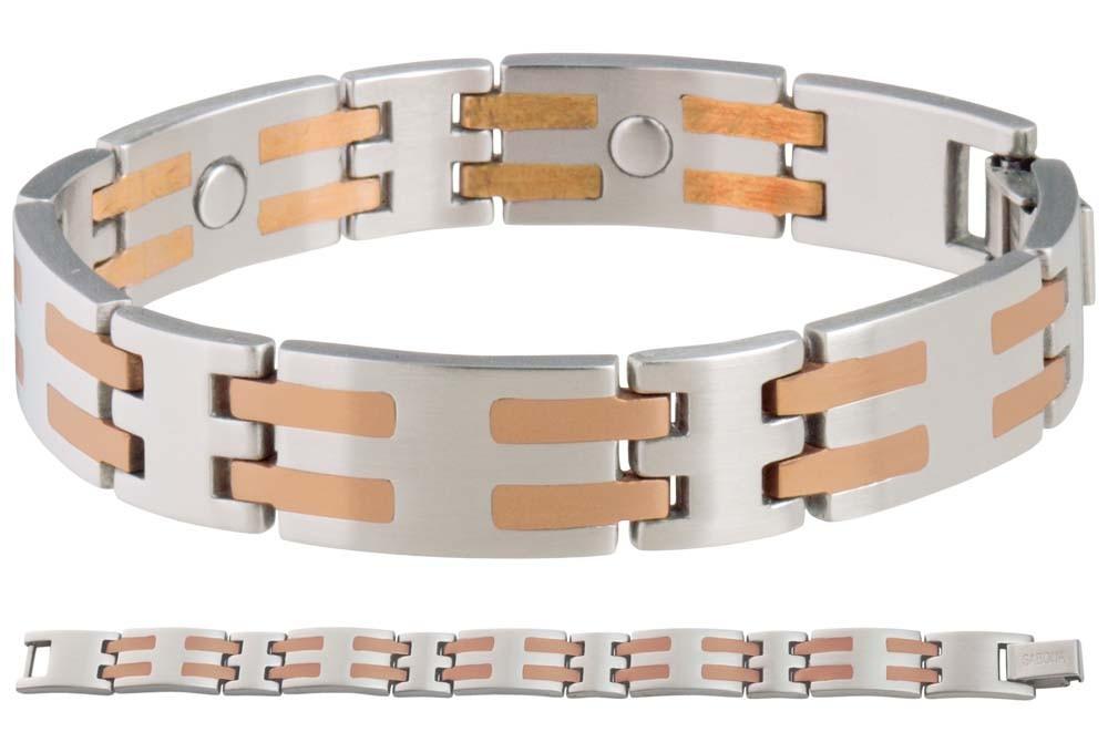 Sabona Stainless / Copper Bar Magnetic Bracelet ...