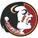 Mini 7 Inch Round Pool Art - Florida State Seminoles NCAA Team Logo (Set of Four Emblems)