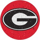 Small 10.5 Inch Round Pool Art - Georgia Bulldogs Team Logo