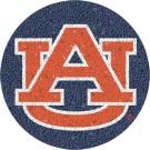 Small 10.5 Inch Round Pool Art - Auburn Tigers Team Logo
