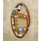 Teak Oval Shower Organizer / Caddy