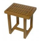 Teak Grate Shower Stool