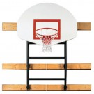 "133"" - 156"" Extension Wall-Braced Fold Up Basketball Backstop with Manual Winch... by"