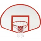 Fan-Shaped Fiberglass Basketball Backboard from Spalding