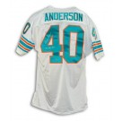 Dick Anderson Miami Dolphins Autographed White Authentic Throwback Jersey Inscribed with... by