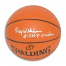 "Ray Williams New York Knicks Autographed Indoor / Outdoor Basketball Inscribed ""NY Knicks"""