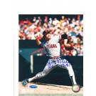 """Len Barker Cleveland Indians Autographed 8"""" x 10"""" Photograph Inscribed with """"PG 5-15-81"""" (Unframed)"""