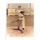 "Hank Bauer New York Yankees Autographed 8"" x 10"" Photograph (With Bat) (Unframed)"