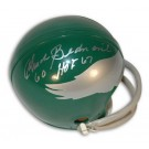 "Chuck Bednarik Philadelphia Eagles Autographed Mini Helmet Inscribed ""HOF 67"""
