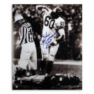 "Chuck Bednarik Philadelphia Eagles Autographed 8"" x 10"" Over Gifford Photograph Inscribed ""HOF 67"" (Unframed)"