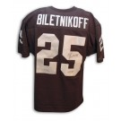 """Fred Biletnikoff Autographed Oakland Raiders Throwback Black Jersey Inscribed with """"HOF 88"""""""