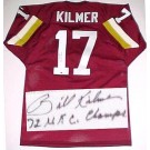 "Billy Kilmer Washington Redskins NFL Autographed Throwback Jersey  with ""72 NFC Champs"" Inscription with ""72 NFC Champs"" inscription"