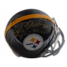 Rocky Bleier Autographed Pittsburgh Steelers Pro Line Throwback Full Size Helmet with... by