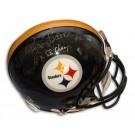 "Rocky Bleier Steelers Autographed Pro Line Helmet with inscription ""4X SB Champs"""