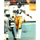 """Mel Blount Autographed """"Vs Eagles"""" Pittsburgh Steelers 16"""" x 20"""" Photo"""