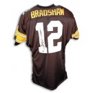 Terry Bradshaw Pittsburgh Steelers Autographed Throwback NFL Football Jersey (Black)