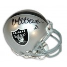 "Cliff Branch Oakland Raiders Autographed Mini Helmet Inscribed with ""21"""