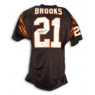 James Brooks Cincinnati Bengals Autographed Black Throwback Jersey by