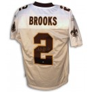 Aaron Brooks New Orleans Saints Autographed Authentic Reebok NFL Football Jersey (White) by