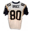 Isaac Bruce Autographed St. Louis Rams Puma Authentic NFL Football Jersey (White) by