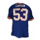 "Harry Carson Autographed New York Giants Blue Throwback Jersey Inscribed ""HOF 06"""