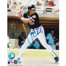 "Jack Clark Autographed ""At The Plate In Black Jersey"" San Francisco Giants 8"" x 10"" Photo"