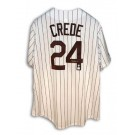 Joe Crede Autographed Chicago White Sox Pinstripe Jersey