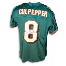 Daunte Culpepper Autographed Miami Dolphins Aqua Reebok Authentic Jersey by