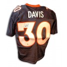 Terrell Davis Autographed Denver Broncos New Style Blue Jersey by