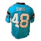 "Stephen Davis Autographed Carolina Panthers NFL Reebok ""Carolina Blue"" Jersey by"