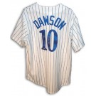 "Andre Dawson Autographed Montreal Expos Pinstripe Jersey Inscribed with ""77 NL ROY"""