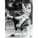 """Tom Dempsey Philadelphia Eagles Autographed Black and White 8"""" x 10"""" Unframed Photograph"""