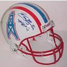 "Elvin Bethea Houston Oilers NFL Authentic Autographed Helmet with ""HOF 03"" Inscription"