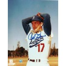 "Carl Erskine Autographed ""Wind Up"" Brooklyn Dodgers 8"" x 10"" Photo"