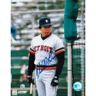 """Darrell Evans Autographed """"In The Batting Cage"""" Detroit Tigers 8"""" x 10"""" Photo"""