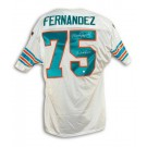 Manny Fernandez Miami Dolphins Autographed White Throwback Jersey Inscribed with... by