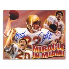 "Doug Flutie and Gerard Phelan Boston College Autographed 8"" x 10"" Lithograph of the ""Miracle in Miami"""